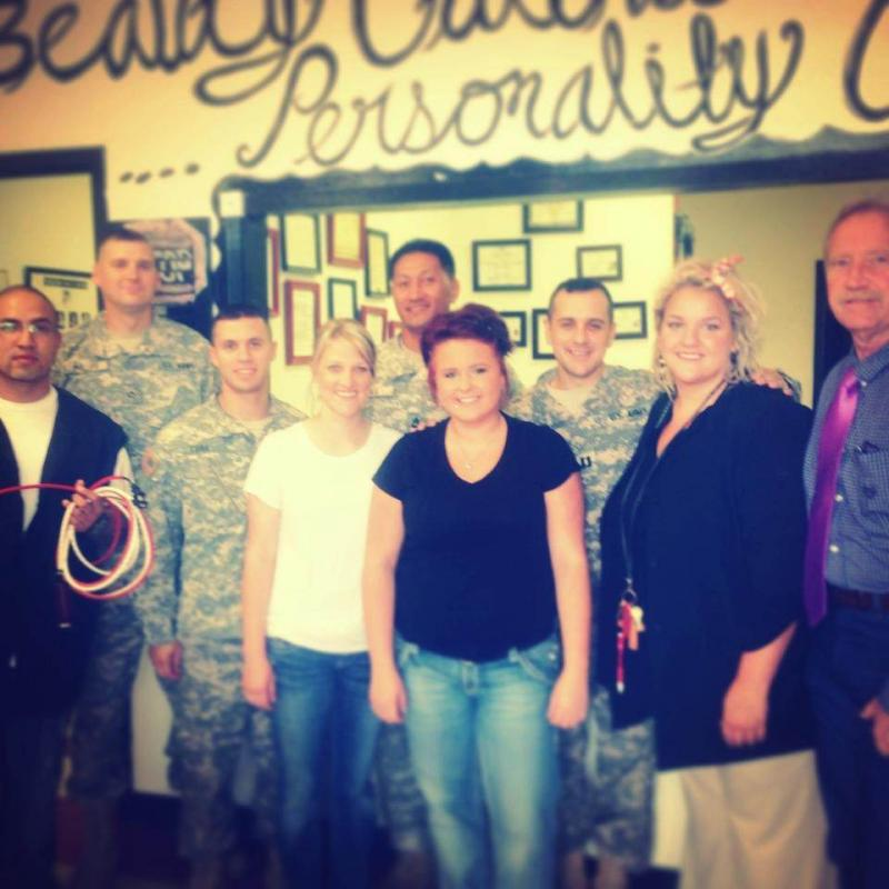 Celebrating with some of our Soldiers  in September 2012